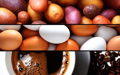 patate, uova e caffè